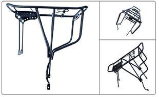 """Багажник задний для велосипеда 26-28"""" под дисковый тормоз, с прижимной лапкой, MH-09 MEET (черный, УТ00019519)"""
