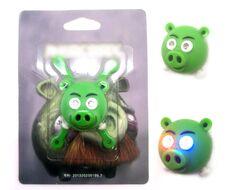 """Фонарь детский """"Злые птички"""" силикон, 2 LED, 3 реж., блистер (зеленый)"""