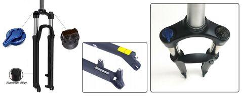 """Вилка 29"""" амортизационная пружинно-эластомерная """"PARTNER"""" TNL-688, Ø 1-1/8"""", алюминиевая, ход 100 мм, шток 260 мм, 28,6, Disc Brake, с функцией блокировки (Lock out), черный (1FK291000841)"""