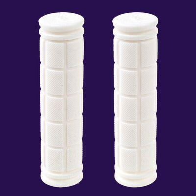 Рукоятки руля (грипсы, комплект), 120мм, резиновые, Joykie (белый) #0
