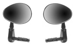 Зеркало заднего вида (комплект 2 шт., овальные вращающиеся) крепление в руль, JY-9-2, блистер (УТ00020792)