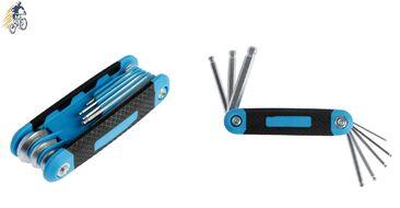 Набор инструментов TUNDRA, складной 8 предметов, шестигранники 8 шт., прорезиненный антискользящий держатель, N-5504 (УТ00021251)
