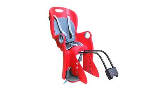 Кресло детское быстросъемное BQ-8, NEW VISION, крепление заднее на подседельный штырь/багажник, регулировка для ног, нагрузка 22 кг, красное (УТ00019198)