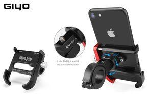 Держатель для смартфона, GIYO, G-001, алюминиевый, на руль (черный, GIYO-G001BK)