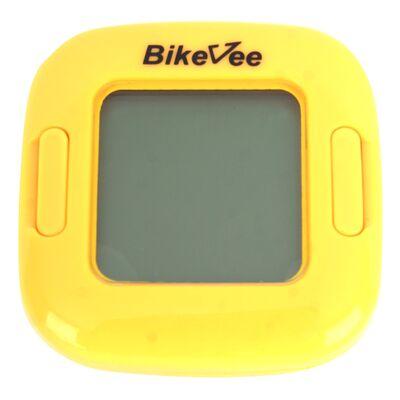 Велокомпьютер беспроводной BKV-2000, 13 функций, BikeVee (желтый) #0