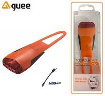 Фонарь задний GUEE, TADPOLE, аккумуляторный, USB, 3,7V/260mAh, 4 Super LED Light, блистер (оранжевый/черный, GU-SLA1-RA1-OG)