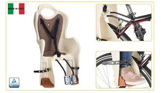 Кресло детское быстросъемное ELIBAS-T, крепление заднее, дугой на раму, нагрузка 22 кг, HTP, Италия (бежевый, УТ00019391)