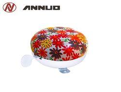 """Звонок велосипедный, """"Цветы"""", алюминиевый, D80 mm, ANNUO, L-A-26 (RNVLA2600001)"""