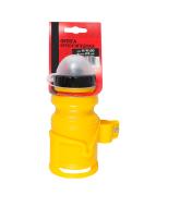 Бутылочка детская, 400 мл, с флягодержателем, с защитой от пыли, полимерная (желтая)