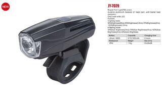 Фара передняя JY-7029 1 Super LED, 5 Watt, 700 lumens, с аккумулятором 1400 mAh, алюминиевый корпус, 4 режима работы, блистер (JY-7029)