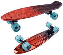 Скейтборд Metallic 22 red ударопрочный полипропилен (NN004178)
