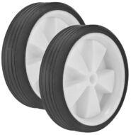 Колесики поддерживающие, без кронштейнов, 130 мм, пластик, пара