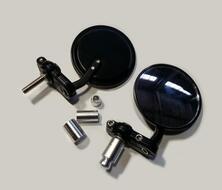 зеркала заднего вида универсальное черное в ручки руля (пара)