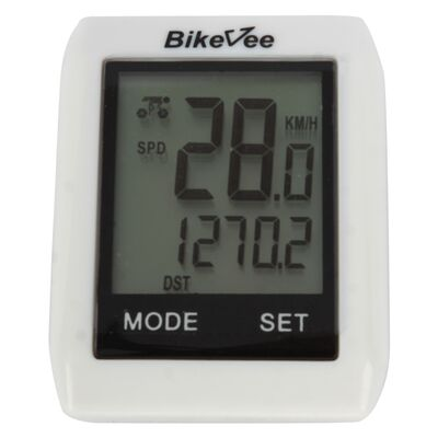 Велокомпьютер, беспроводной, BKV- 6000, 10 функций, сенсорный, BikeVee (белый, 1CM000000022) #0