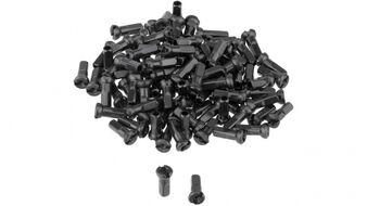 Ниппель для спицы 14G, стальной, 14 мм (упаковка 144 шт.) черный, УТ00020255