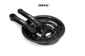 """Комплект шатунов (Система), D-EDх3 """"NECO"""",  NSP3002, длина 170 мм, 28/38/48, с пластиковой защитой (черный)"""