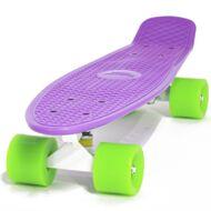 """Скейтборд (Пенниборд) Cruiser 22"""", Alu, ABEC-7 (фиолетовый/зеленый)"""
