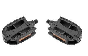 """Комплект педалей KIDS пластик с отражателями, 100х71, ось 1/2"""" (Ø 12 мм) GW-15044, New Vision (черный)"""