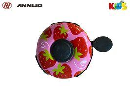 """Звонок велосипедный, """"Клубнички"""", алюминий/пластик, D55 мм, ANNUO (красный/розовый)"""