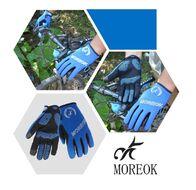 """Велоперчатки MOREOK, длинный палец, силиконовые вставки, биэластичные, лайкра, сенсор, на блистере, размер """"M"""", синий (FWDMOREOKBLU-M)"""
