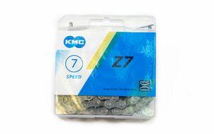 """Цепь """"KMC"""" (Z-7) 6/7 скор. (116 звеньев) с замком, инд. упаковка"""
