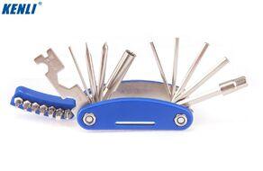 Набор инструментов KENLI KL-9802C: 20 в 1, шестигранники 2/2.5/3/4/5/6/8 мм, отвертки под шлиц/крест/T10/T15/T20/T25/T27/T30/P1, пласт. держатель (KL-9802C)