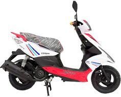 Скутер VENTO Corsa TMEC50QT-9A 49 л.с., красный/белый (ScVCorsaRW)