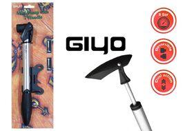 Насос компактный (ручной) GIYO GP-92, двойного действия, алюминиевый, телескопический, Т-образная ручка, 120 PSI (GP-92)