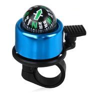 Звонок велосипедный, алюминиевый, с компасом, D40 мм, (синий)