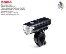 Фара JY-369C-5 передняя, 5 Super Bright White LED, 3 режима работы, блистер, JING YI (УТ00021157)