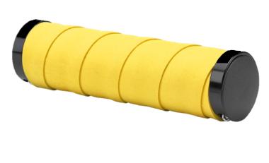 Рукоятки руля (грипсы, комплект), 130мм, Slender Leather, TwoSideLock, инд. упак. (желтый, 4630031483846) #0