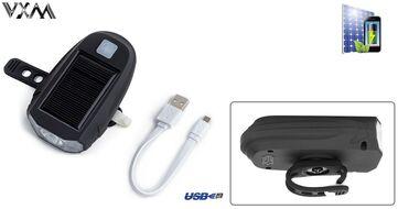 Фара передняя VXM, 600 Lum, LED XPG-2, USB кабель, с аккумулятором 1200 mAh, Waterproof, Solar Energy (УТ00019532)