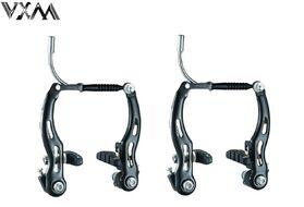 Рычаги тормозные V-brake алюминий/сталь VXM, комплект 2 пары, 110 мм, с колодками 60 мм (черный) УТ00020334