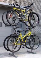 Стойка велосипедная 2-х этажная для 4-х велосипедов