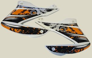 пластик облицовки бака (пара) Racer RC200GY-C2, RC250GY-C2 Panther (черный)