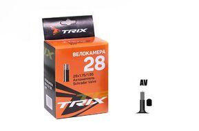Камера 28x1,75/1,95 бутил, авто-ниппель, AV, TRIX (1/50, УТ00019220)
