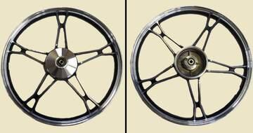 диск колесный передний литой черный  DELTA, ALPHA