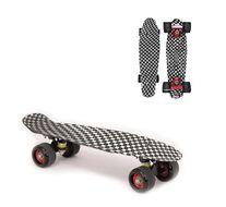 """Скейтборд (пенниборд) Black Aqua 22"""", Alu, ABEC-7, колеса PU 60x45, WX-204, Two-Way PRINT (черный/белый, УТ00021066)"""