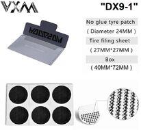 Аптечка велосипедная, MiniKit, заплатки, 6 шт., самоклейки, шкурка, VXM, DX9-1 (RT5PTCH6DX91)