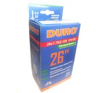 Камера 26x1,75/2,125 легкая (138 гр, 0,6 мм) F/V-52 (47/57-559) DURO