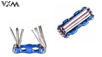 Набор инструментов VXM, складной, 6 предметов, шестигранники, отвертки, алюминиевый держатель, VX-9833 (УТ00019541)