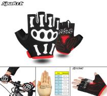 """Велоперчатки SPAKCT, длинный палец, гелевые вставки, биэластичные, силикон, лайкра, размер """"L"""" (черный/красный, FWDSPAKCTL1)"""
