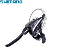 Рукоятка переключения передач левая SHIMANO ACERA ST-EF65-3L комбинированная, 3 ск., 22,2 мм (black/silver, ASTEF654LVSBL)