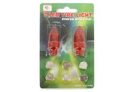 Колпачок на ниппель, JY-505, светодиодный (1 LED), к-кт 2 шт.